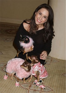 Photo of Lacey Chabert & her Dog Teacup, Teaspoon, and Tealeaf