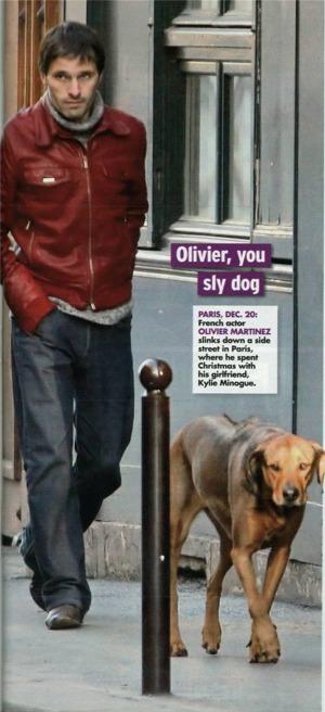 there is a shot of Kylie Minogue's boyfriend, Olivier Martinez,