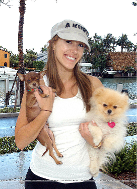 Haylie Duff and her dogs