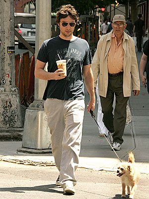 Zach Braff and Roscoe in SoHo