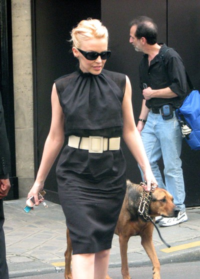 Kylie Minogue and Sheba