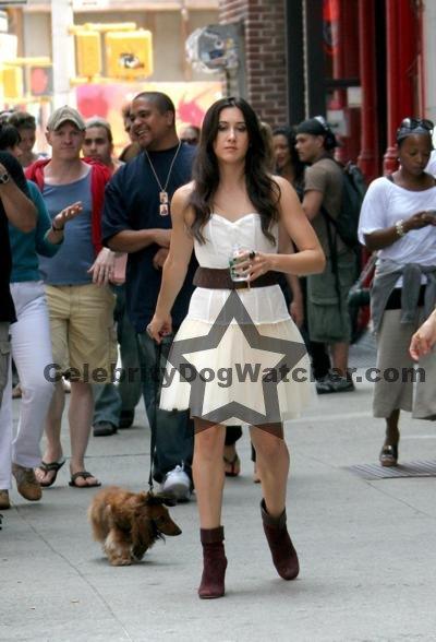Vanessa Carlton & Victor her dog
