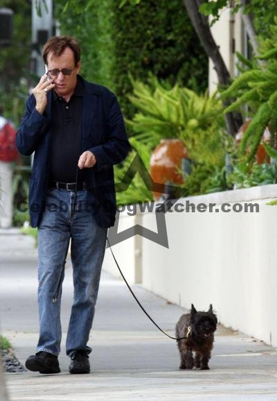 James Woods and his dog
