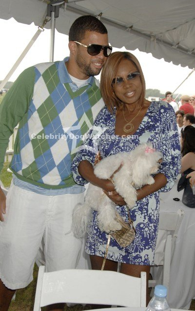 Star Jones with husband Al and dog Pinky