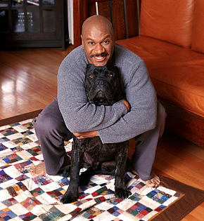 Ving Rhames and one of his dogs