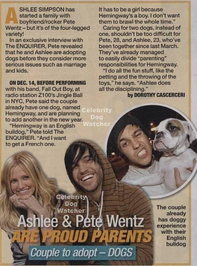 Pete Wentz & Ashlee Simpson
