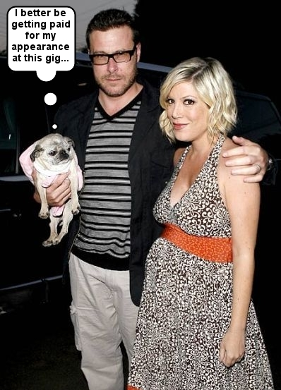 Tori Spelling, Dean McDermott and Mimi LaRue