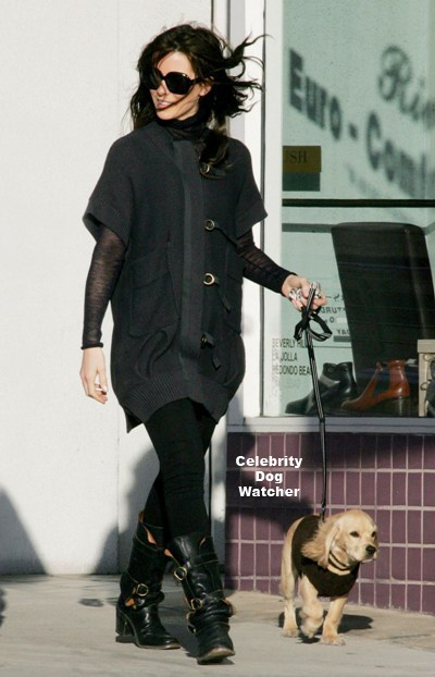 Kate Beckinsale with new puppy