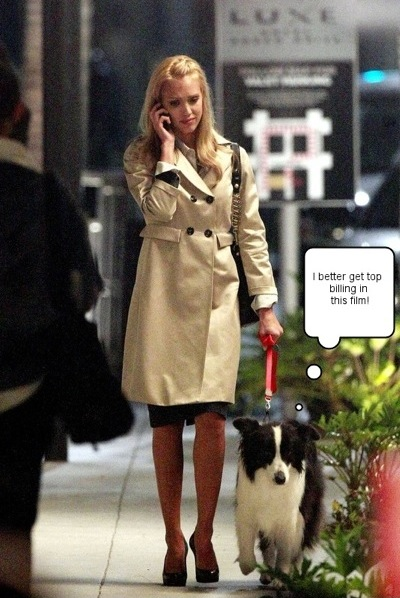 Jessica Alba Walks Movie Dog