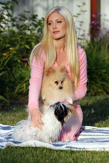 Photo of Heidi Montag & her Dog Dolly & Ninja