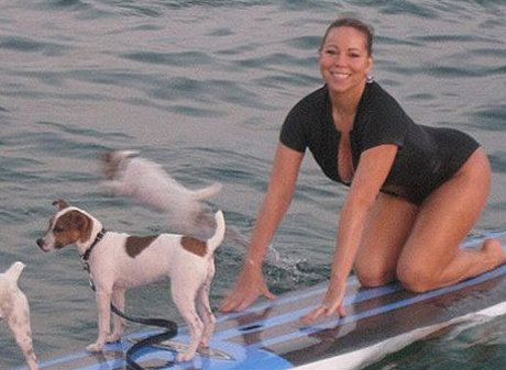 mariah carey dogs surf