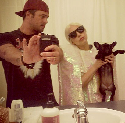 Lady Gaga & Her French Bulldog, Asia | CelebrityDogWatcher.com