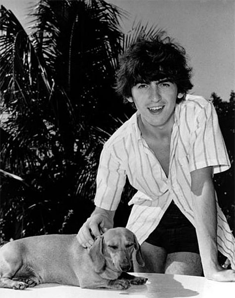 George Harrison's Dachshund named Ozzy
