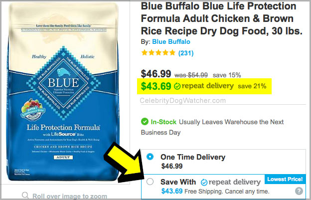 blue buffalo dog food coupon